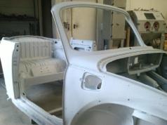 Sandstrahlen-Auto